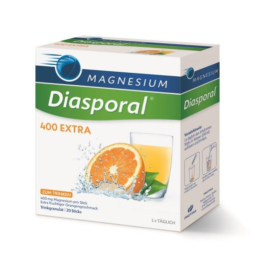 Magnesium Diasporal 400 mg Extra, granulat za pripravo napitka, 20 vrečk