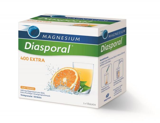 Magnesium Diasporal 400 mg Extra, granulat za pripravo napitka, 50 vrečk