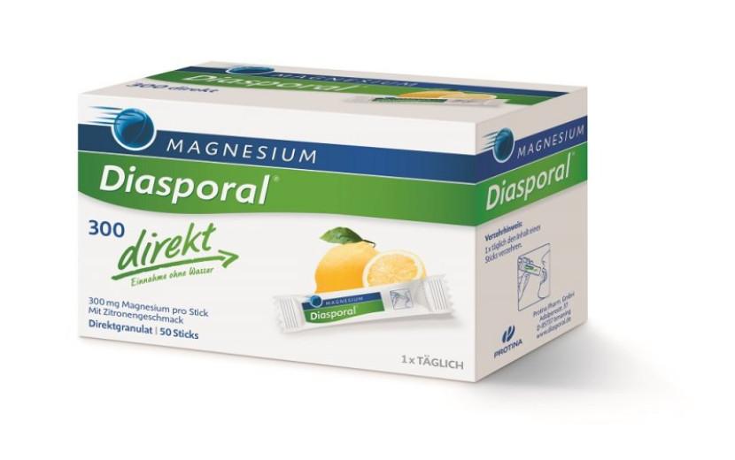 Magnesium Diasporal 300 mg direkt, granule za direktno uživanje, 50 vrečk