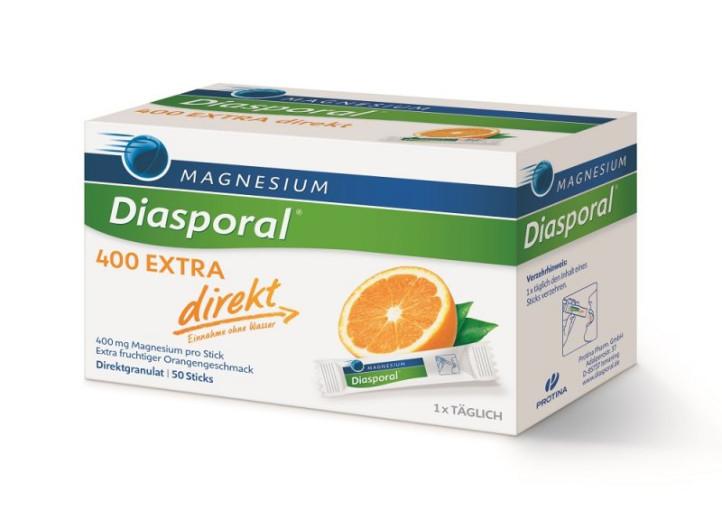 Magnesium Diasporal 400 mg Extra direkt, granule za direktno uživanje, 50 vrečk