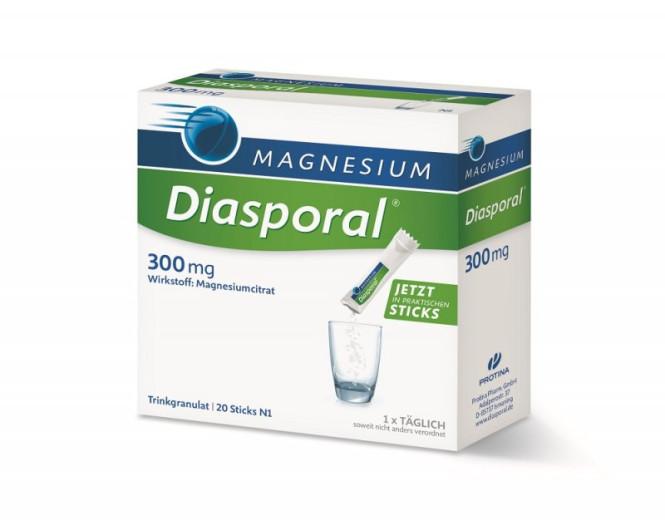 Magnesium Diasporal 300 mg, granulat za pripravo napitka, 20 vrečk