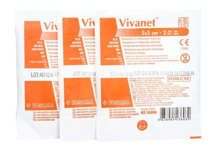 Vivanet komprese 5 x 5 cm