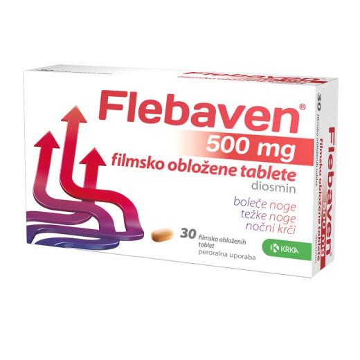 Flebaven 500 mg, 30 filmsko obloženih tablet