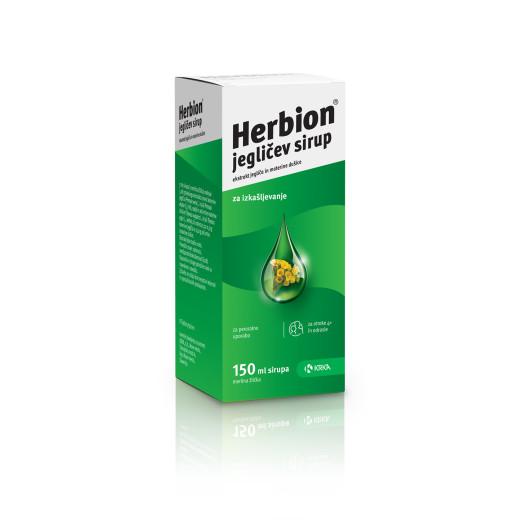 Herbion, jegličev sirup, 150 ml