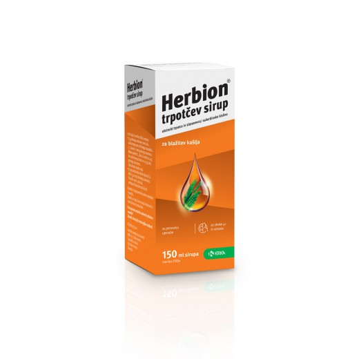 Herbion, trpotčev sirup, 150 ml