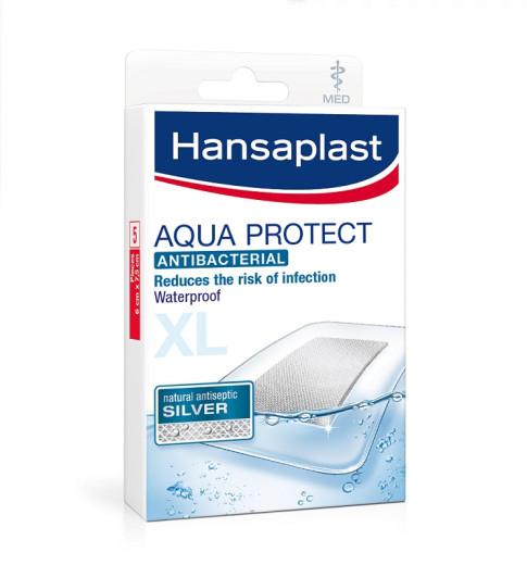 Hansaplast Aqua Protect Silver XL, vodoodporni obliži s srebrovimi ioni, 5 obližev