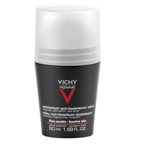 Vichy Homme, dezodorant za občutljivo kožo, 50 ml