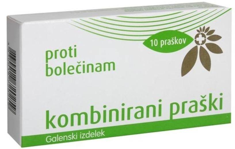 Kombinirani praški proti bolečinam, 10 papirnatih kapsul