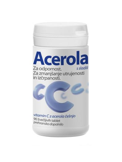 Acerola, 90 žvečljivih tablet