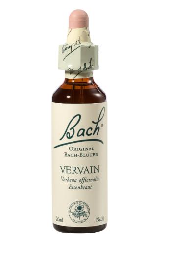 Bach Vervain, kapljice št. 31 - sporiš, 20 ml