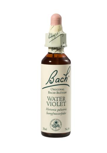 Bach Water Violet, kapljice št. 34 - vodna vijolica, 20 ml