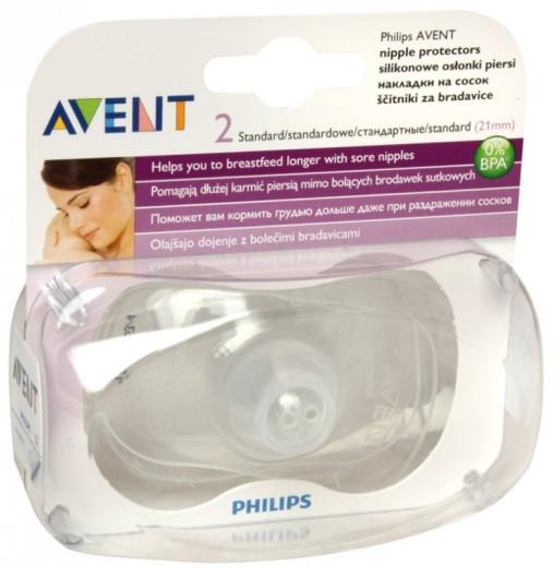 Avent, silikonski ščitnik za bradavice standard, 2 kosa