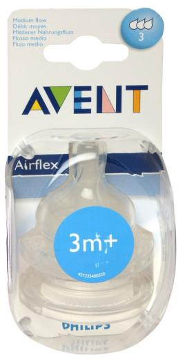 Avent, silikonski cucelj s srednjim pretokom 3m+, 1 kos