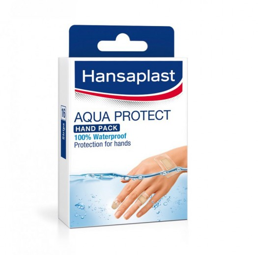 Hansaplast Aqua Protect, vodoodporni obliži za roke, 16 obližev