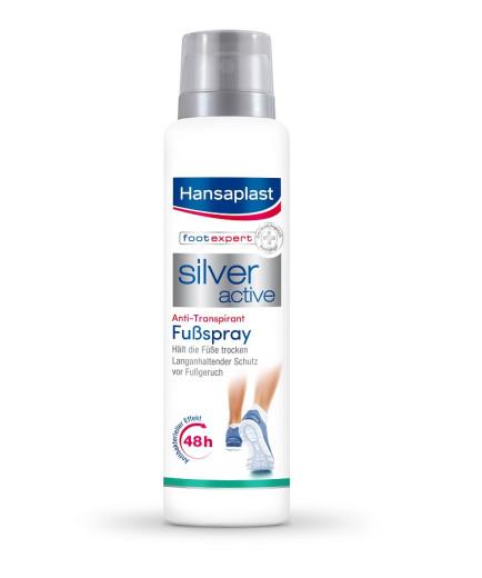Hansaplast Silver Active, antiperspirant za noge,150 ml