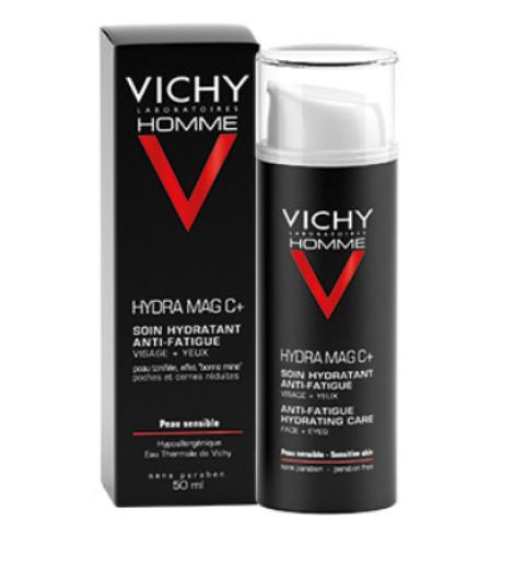Vichy Homme, Hydra Mag C+ vlažilna nega za obraz in predel okoli oči, 50 ml