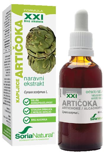 Soria Natural Artičoka XXI kapljice, 50 ml