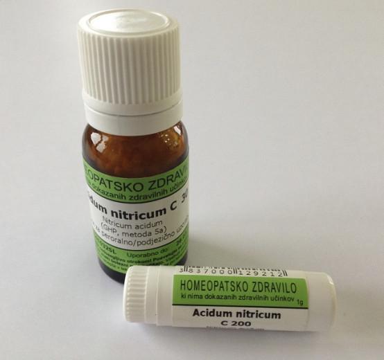 Acidum nitricum, kroglice za peroralno/podjezično uporabo - C6, 10 g