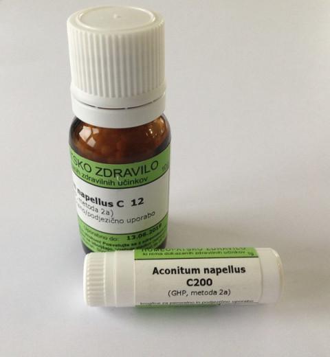 Aconitum napellus, kroglice za peroralno/podjezično uporabo - C12, 1 g