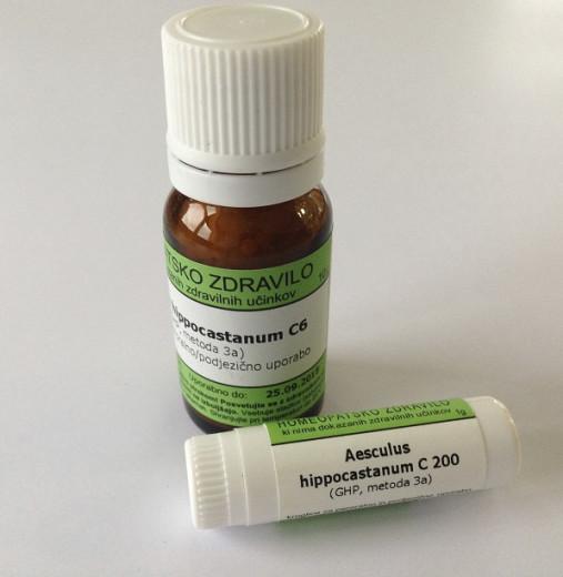 Aesculus hippocastanum, kroglice za peroralno/podjezično uporabo - C12, 10 g