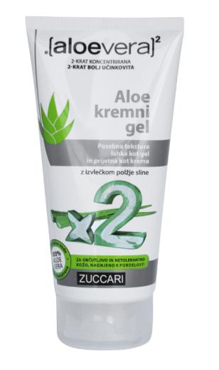 Aloe Vera X2, Aloe kremni gel z izvlečkom polžje sline, 150 ml