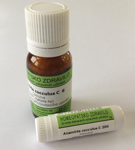 Anamirta cocculus, kroglice za peroralno/podjezično uporabo - C12, 10 g