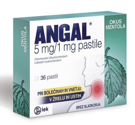 Angal 5 mg/1 mg, 36 pastil