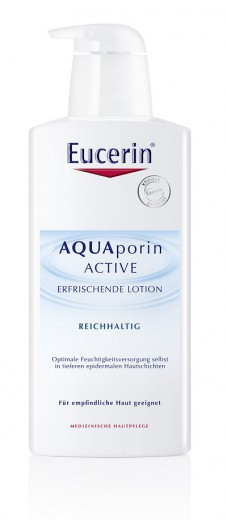 Eucerin Aquaporin Active, osvežujoč bogat losjon, 400 ml