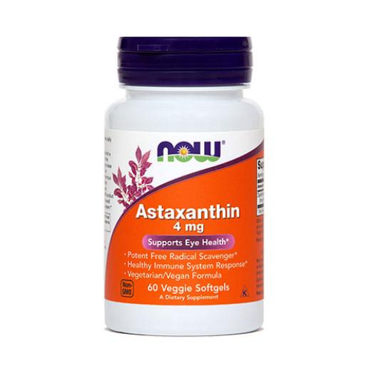 NOW Astaksantin 4 mg, 60 kapsul