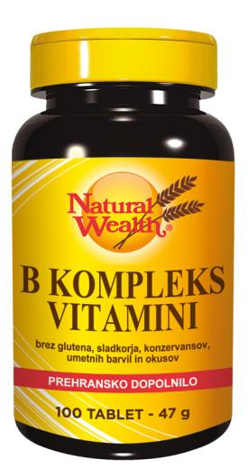 Natural Wealth B kompleks, 100 tablet