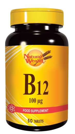 Natural Wealth Vitamin B12 100 µg, 50 tablet