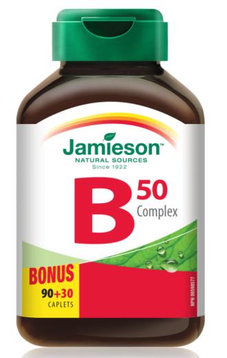 Jamieson B kompleks 50, 120 tablet