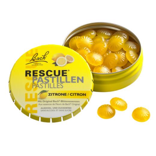 Bach Rescue, pastile z okusom limone, 50 g