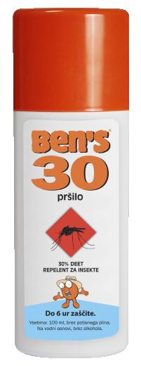 Ben's 30, repelent v razpršilu, 100 ml