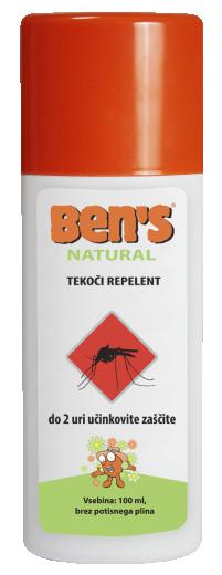 Ben's Natural, repelent v razpršilu, 100 ml