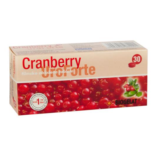 Biogelat Cranberry UroForte, 30 filmsko obloženih tablet