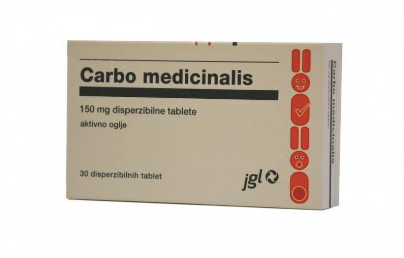 Carbo medicinalis 150 mg, 30 disperzibilnih tablet