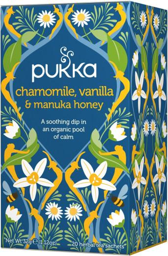 Pukka Chamomile, Vanilla & Manuka Honey, ekološki čaj, 20 vrečk