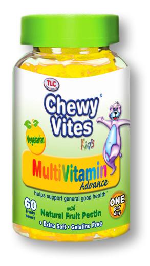 Chewy Vites Kids Multi Vitamin Advance, 60 žvečjivih medvedkov