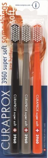 Curaprox CS 3960 Super soft, zobna ščetka - trojno pakiranje