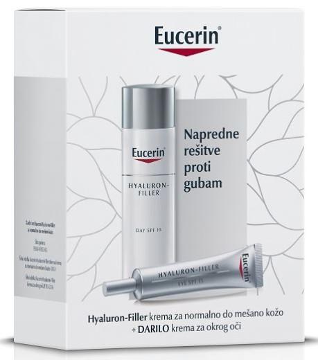 Eucerin Darilni paket Hyaluron Filler dnevna nega za normalno in mešano kožo