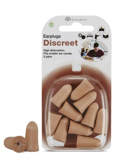Swedsafe Diskretni ušesni čepek - S, 5 parov