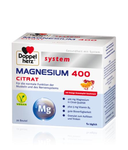 Doppelherz System Magnezij 400 citrat, 20 vrečk