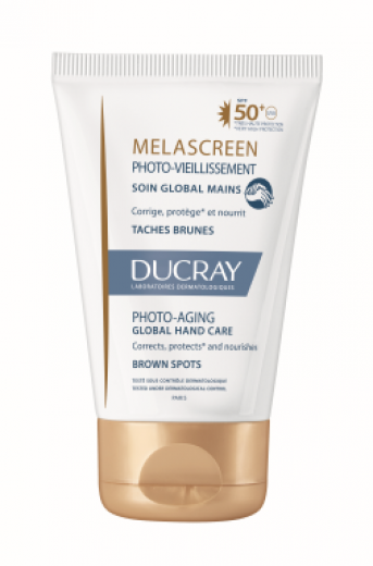 Ducray Melascreen Photo-Aging krema za roke - ZF50+, 50 ml