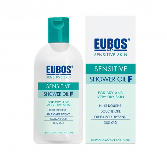 Eubos Med Sensitive F olje za prhanje, 200 ml