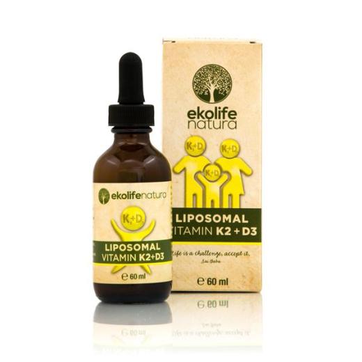 Ekolife Natura Liposomski Vitamin K2+D3, tekočina, 60 ml