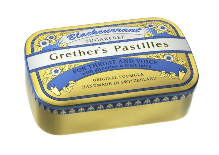 Grether's pastile z okusom črnega ribeza - brez sladkorja, 110 g