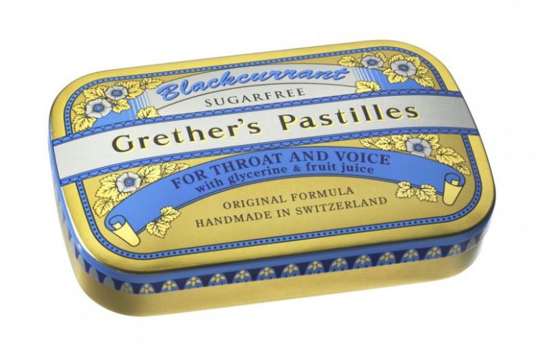 Grether's pastile z okusom črnega ribeza - brez sladkorja, 60 g