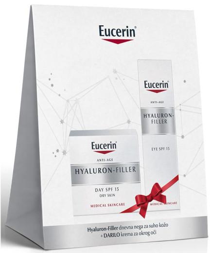 Eucerin Darilni paket Hyaluron Filler dnevna nega za suho kožo
