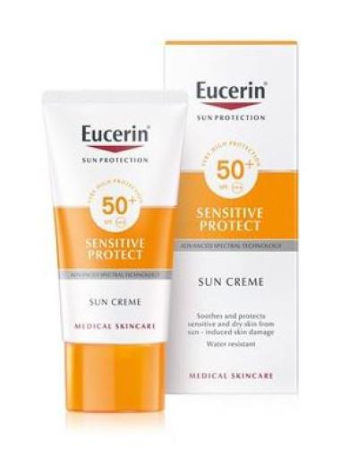 Eucerin Sun Sensitive Protect krema za zaščito pred soncem - ZF 50+, 50 ml
